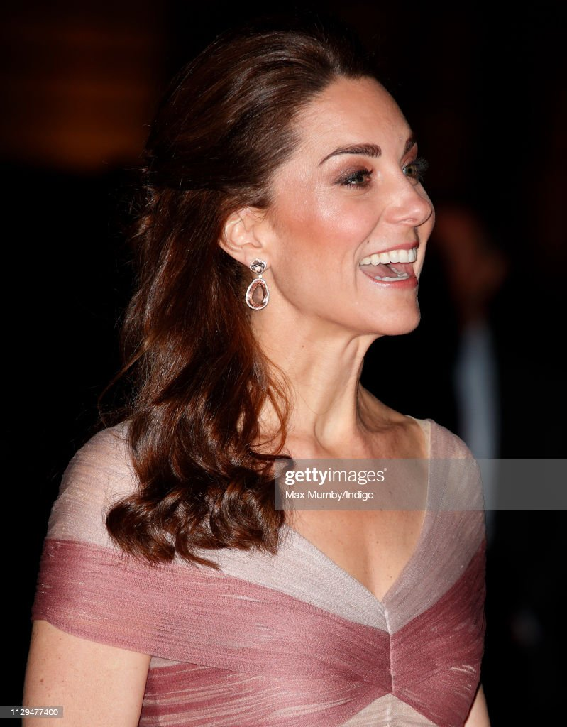 GBR: The Duchess Of Cambridge Attends 100 Women In Finance Gala Dinner