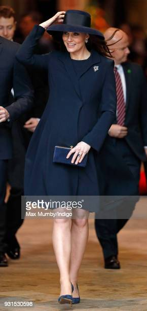 Catherine Duchess of Cambridge attends the 2018 Commonwealth Day service at Westminster Abbey on March 12 2018 in London England