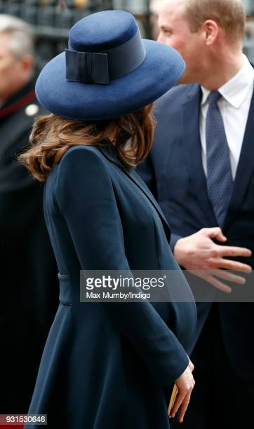 Catherine, Duchess of Cambridge attends the 2018 Commonwealth Day service at Westminster Abbey on March 12, 2018 in London, England.