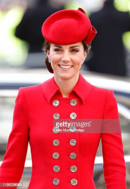 Catherine Duchess of Cambridge attends the 2019 Commonwealth Day service at Westminster Abbey on March 11 2019 in London England