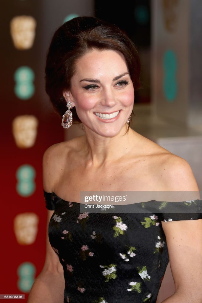 Catherine, Duchess of Cambridge attends the 70th EE British Academy Film Awards (BAFTA) at Royal Albert Hall on February 12, 2017 in London, England.