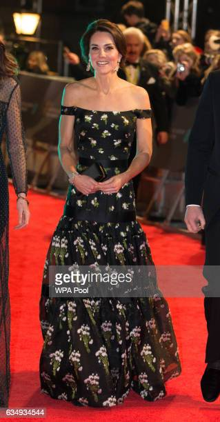 Catherine Duchess of Cambridge attends the 70th EE British Academy Film Awards at the Royal Albert Hall on February 12 2017 in London England