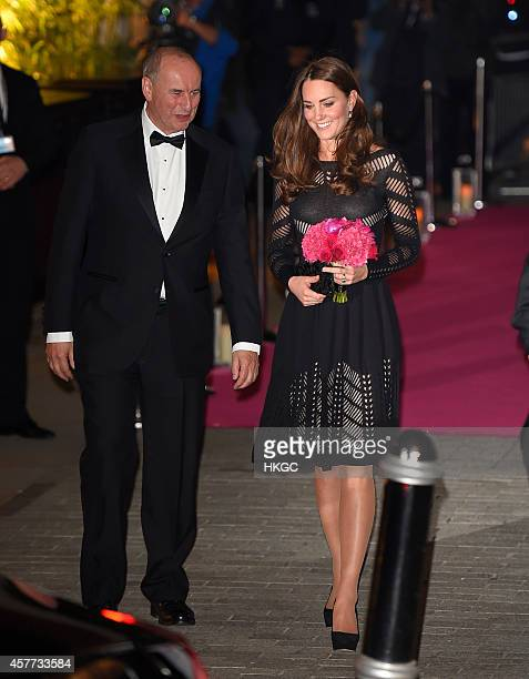 Catherine Duchess of Cambridge attends the Action on Addiction Autumn Gala evening at L'Anima on October 23 2014 in London England