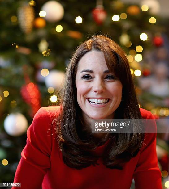 Catherine, Duchess of Cambridge attends the Anna Freud Centre Family School Christmas Party at Anna Freud Centre on December 15, 2015 in London,...