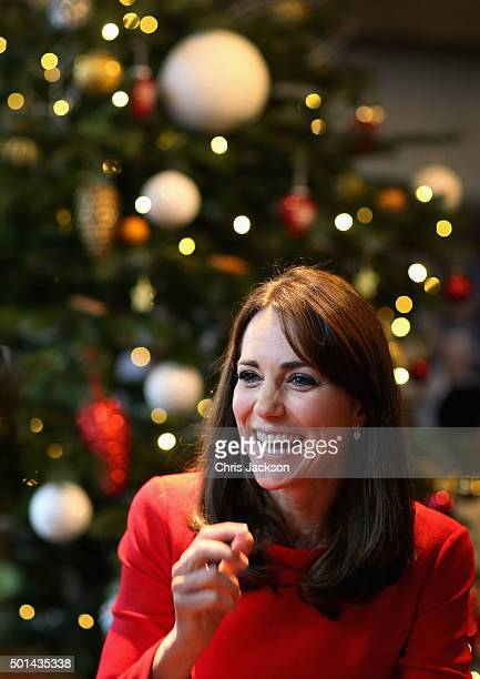 Catherine Duchess of Cambridge attends the Anna Freud Centre Family School Christmas Party at Anna Freud Centre on December 15 2015 in London England...