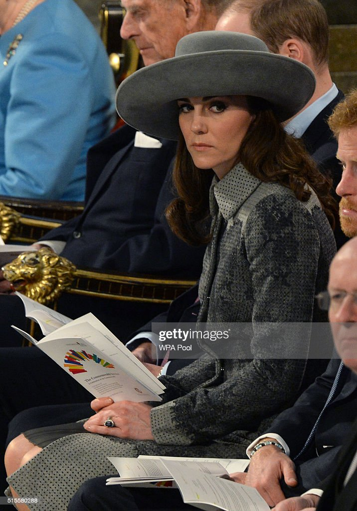 The Royal Family Attends The Commonwealth Observance Day Service : News Photo