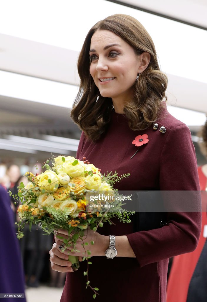 Catherine, Duchess Of Cambridge attends the annual Place2Be School Leaders Forum at UBS London on November 8, 2017 in London, England. Catherine, Duchess Of Cambridge is Patron of Place2Be, a National Children's mental health charity.