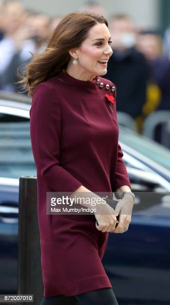 Catherine, Duchess of Cambridge attends the annual Place2Be School Leaders Forum at UBS London on November 8, 2017 in London, England. The Duchess of...