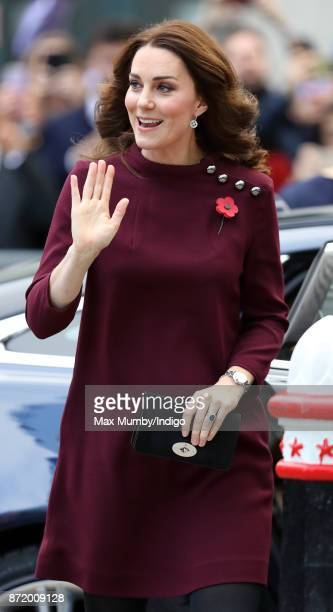 Catherine Duchess of Cambridge attends the annual Place2Be School Leaders Forum at UBS London on November 8 2017 in London England The Duchess of...