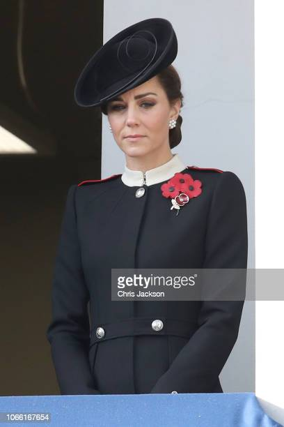 Catherine Duchess of Cambridge attends the annual Remembrance Sunday memorial on November 11 2018 in London England The armistice ending the First...