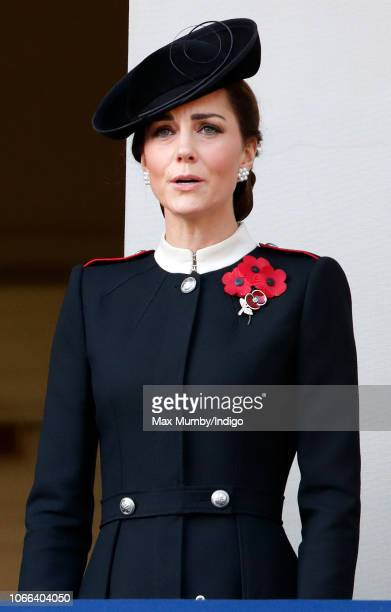 Catherine Duchess of Cambridge attends the annual Remembrance Sunday Service at The Cenotaph on November 11 2018 in London England The armistice...