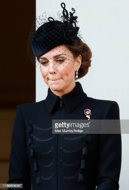 Catherine, Duchess of Cambridge attends the annual Remembrance Sunday service at The Cenotaph on November 10, 2019 in London, England. The armistice...