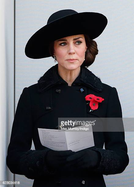 Catherine, Duchess of Cambridge attends the annual Remembrance Sunday Service at the Cenotaph on Whitehall on November 13, 2016 in London, England....