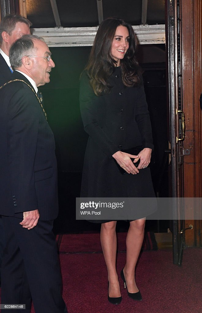 Catherine, Duchess of Cambridge attends the annual Royal Festival of Remembrance at the Royal Albert Hall on November 12, 2016 in London, England.