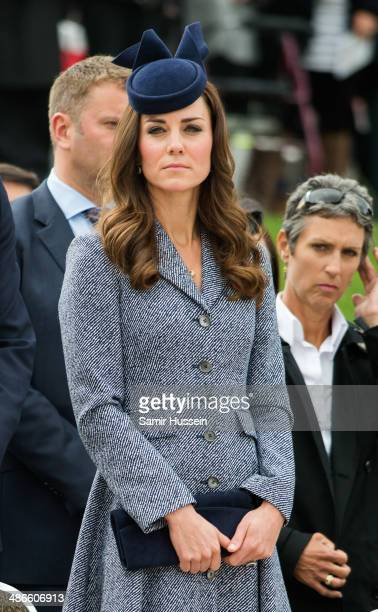 Catherine Duchess of Cambridge attends the ANZAC Day commemorative service at the Australian War Memorial on April 25 2014 in Canberra Australia The...