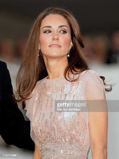 Catherine Duchess of Cambridge attends the ARK 10th Anniversary Gala Dinner at perk's Field on June 9 2011 in London England