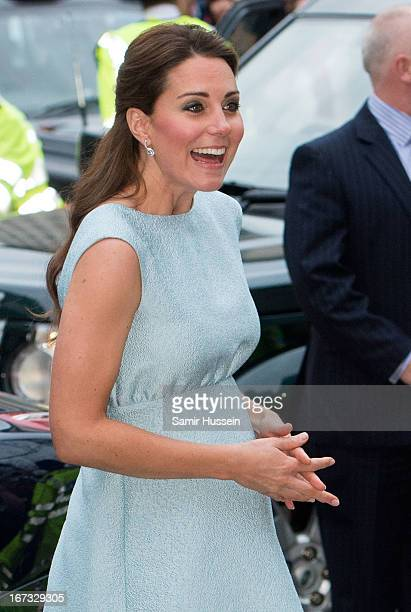 Catherine Duchess of Cambridge attends The Art Room Reception at the National Portrait Gallery on April 24 2013 in London England