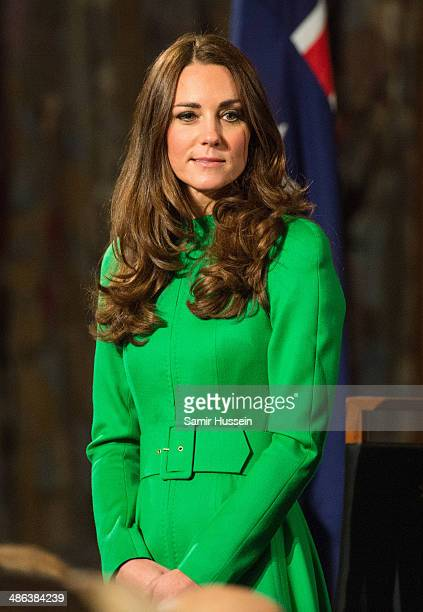 Catherine Duchess of Cambridge attends the Australian Parliament on April 24 2014 in Canberra Australia The Duke and Duchess of Cambridge are on a...