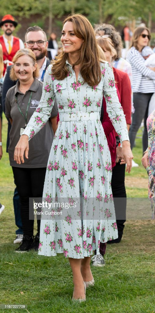 "The Duchess Of Cambridge Attends ""Back to Nature"" Festival : Photo d'actualité"