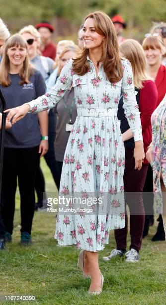 "Catherine, Duchess of Cambridge attends the ""Back to Nature"" festival at RHS Garden Wisley on September 10, 2019 in Woking, England."