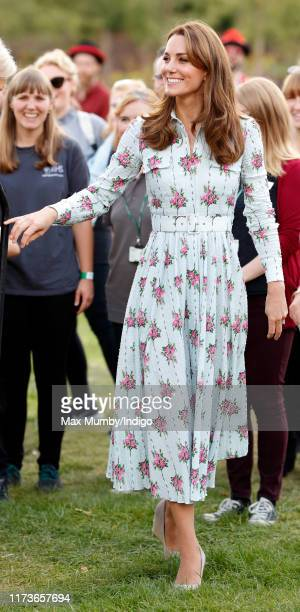 Catherine Duchess of Cambridge attends the Back to Nature festival at RHS Garden Wisley on September 10 2019 in Woking England