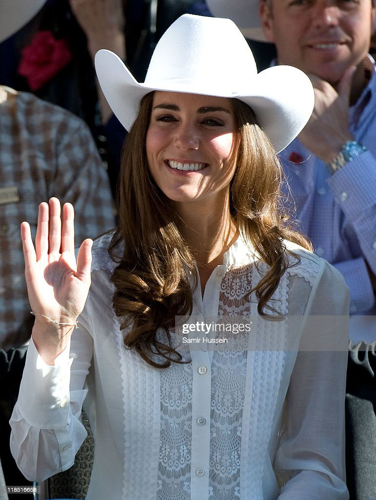 Catherine, Duchess of Cambridge attends the Calgary Stampede on day 9 of the Royal couple's tour of North America on July 8, 2011 in Calgary, Canada.
