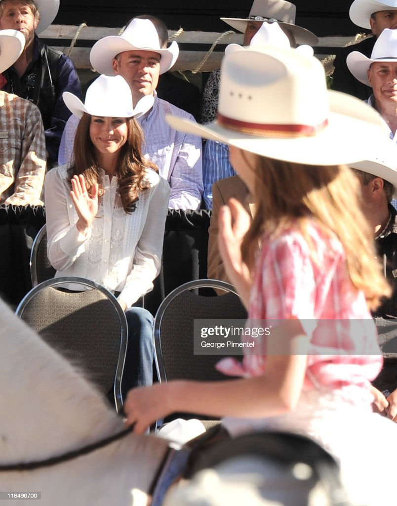 Catherine, Duchess of Cambridge attends the Calgary Stampede Parade on day 9 of the Royal couple's tour of North America on July 8, 2011 in Calgary, Canada.