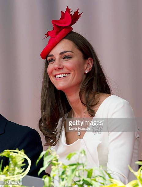 Catherine Duchess of Cambridge attends the Canada Day Celebrations at Parliament Hill on day 2 of the Royal Couple's North American Tour on July 1...