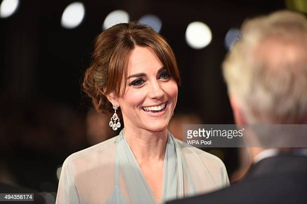 Catherine Duchess of Cambridge attends The Cinema and Television Benevolent Fund's Royal Film Performance 2015 of the 24th James Bond Adventure...
