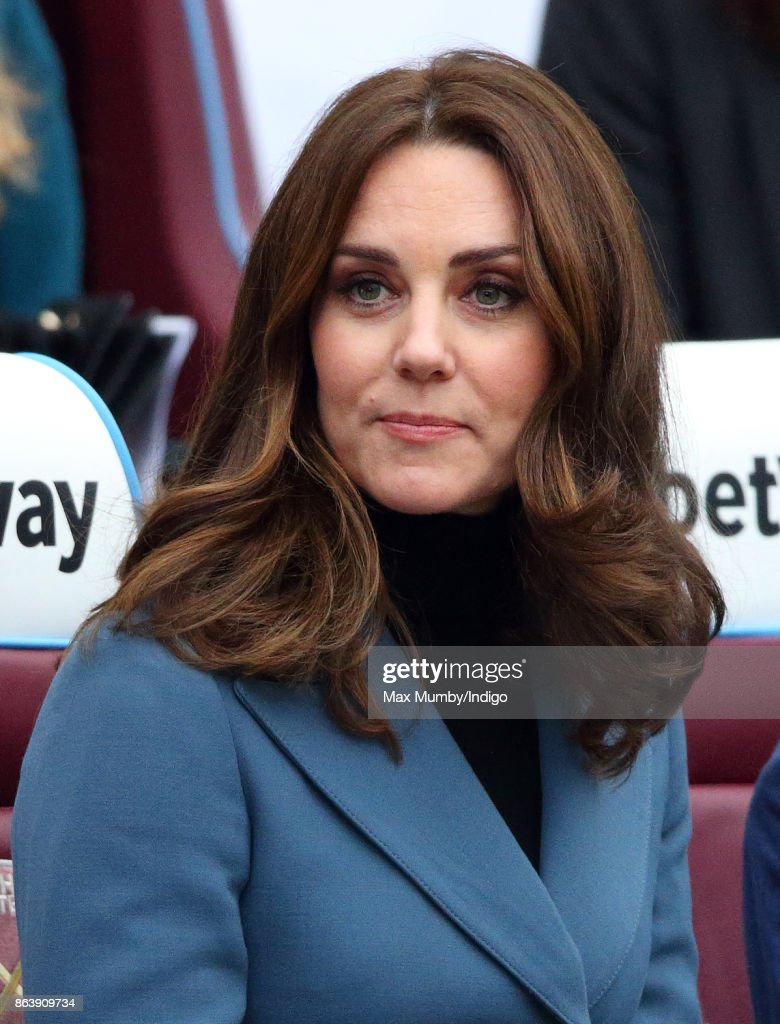 Catherine, Duchess of Cambridge attends the Coach Core graduation ceremony for more than 150 Coach Core apprentices at The London Stadium on October 18, 2017 in London, England.