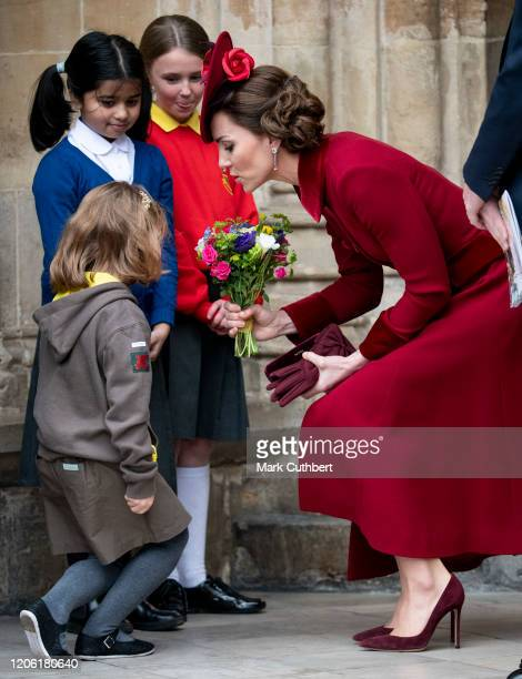 Catherine Duchess of Cambridge attends the Commonwealth Day Service 2020 at Westminster Abbey on March 9 2020 in London England