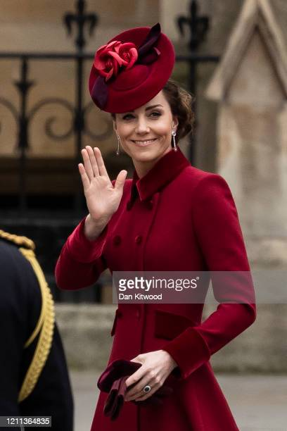 Catherine Duchess of Cambridge attends the Commonwealth Day Service 2020 at Westminster Abbey on March 09 2020 in London England The Commonwealth...