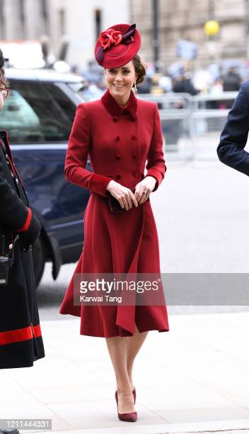 Catherine Duchess of Cambridge attends the Commonwealth Day Service 2020 at Westminster Abbey on March 09 2020 in London England