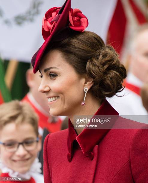 Catherine Duchess of Cambridge attends the Commonwealth Day Service 2020 on March 09 2020 in London England