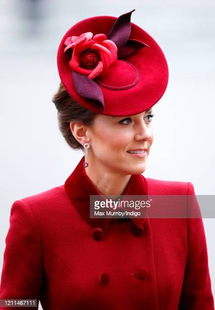 Catherine, Duchess of Cambridge attends the Commonwealth Day Service 2020 at Westminster Abbey on March 9, 2020 in London, England. The Commonwealth...