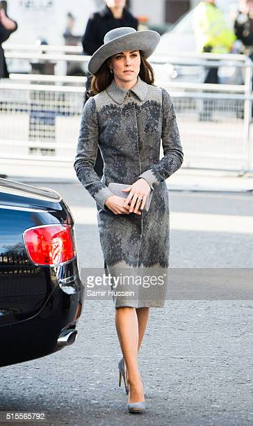 Catherine Duchess of Cambridge attends the Commonwealth Observance Day Service on March 14 2016 in London United Kingdom The service is the largest...