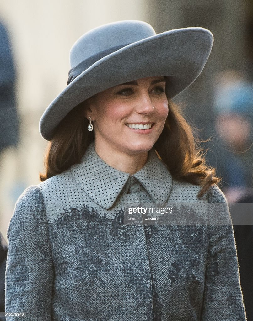 Catherine, Duchess of Cambridge attends the Commonwealth Observance Day Service on March 14, 2016 in London, United Kingdom. The service is the largest annual inter-faith gathering in the United Kingdom and will celebrate the Queen's 90th birthday. Kofi Annan and Ellie Goulding will take part in the service.