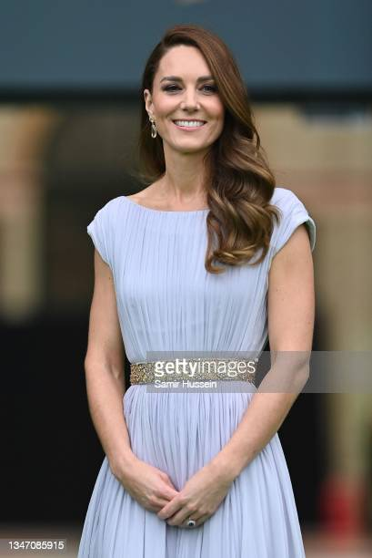 Catherine, Duchess of Cambridge attends the Earthshot Prize 2021 at Alexandra Palace on October 17, 2021 in London, England.