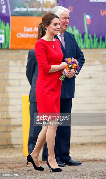 Catherine Duchess of Cambridge attends the East Anglia's Children's Hospices Norfolk Capital Appeal launch event at the Norfolk Showground on...