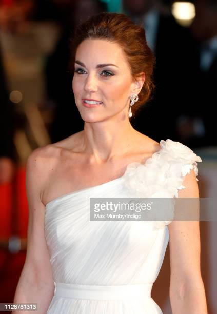 Catherine Duchess of Cambridge attends the EE British Academy Film Awards at the Royal Albert Hall on February 10 2019 in London England