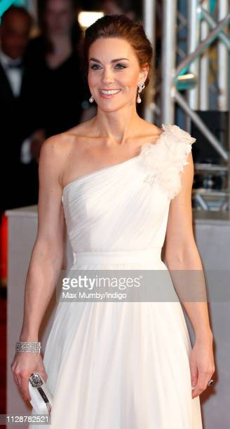Catherine, Duchess of Cambridge attends the EE British Academy Film Awards at the Royal Albert Hall on February 10, 2019 in London, England.