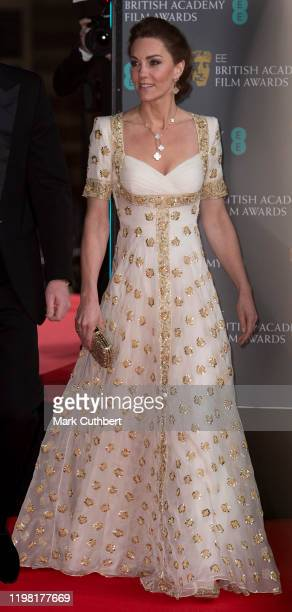 Catherine Duchess of Cambridge attends the EE British Academy Film Awards 2020 at Royal Albert Hall on February 2 2020 in London England