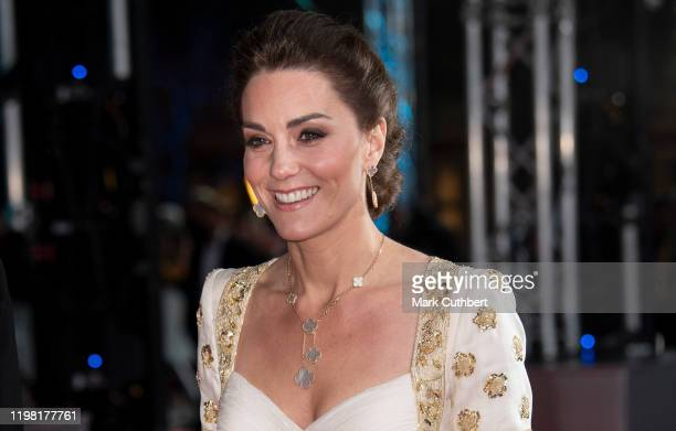 Catherine, Duchess of Cambridge attends the EE British Academy Film Awards 2020 at Royal Albert Hall on February 2, 2020 in London, England.