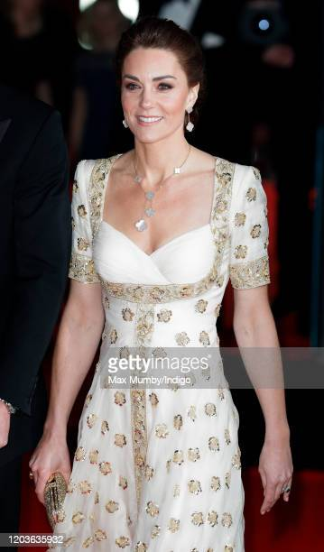 Catherine, Duchess of Cambridge attends the EE British Academy Film Awards 2020 at the Royal Albert Hall on February 2, 2020 in London, England.