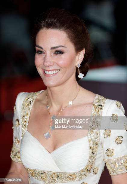Catherine Duchess of Cambridge attends the EE British Academy Film Awards 2020 at the Royal Albert Hall on February 2 2020 in London England