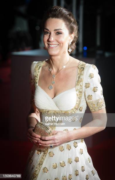 Catherine Duchess of Cambridge attends the EE British Academy Film Awards 2020 at Royal Albert Hall on February 02 2020 in London England