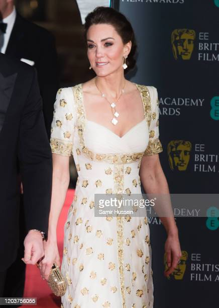 Catherine, Duchess of Cambridge attends the EE British Academy Film Awards 2020 at Royal Albert Hall on February 02, 2020 in London, England.