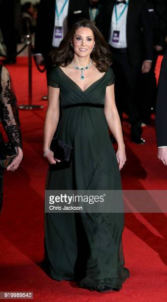 Catherine Duchess of Cambridge attends the EE British Academy Film Awards held at Royal Albert Hall on February 18 2018 in London England