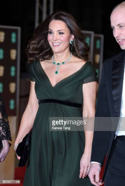 Catherine Duchess of Cambridge attends the EE British Academy Film Awards held at the Royal Albert Hall on February 18 2018 in London England