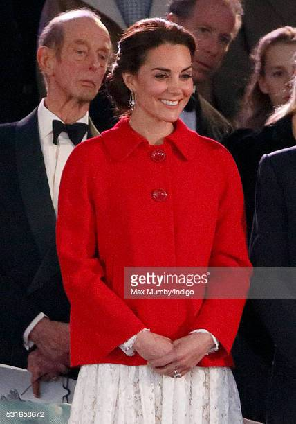 Catherine Duchess of Cambridge attends the final night of The Queen's 90th Birthday Celebrations being held at the Royal Windsor Horse Show in Home...